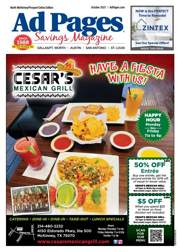 N. McKinney, TX Ad Pages Coupon Magazine