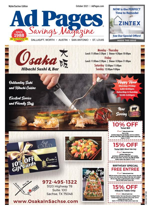Wylie/Sachse, TX Ad Pages Coupon Magazine