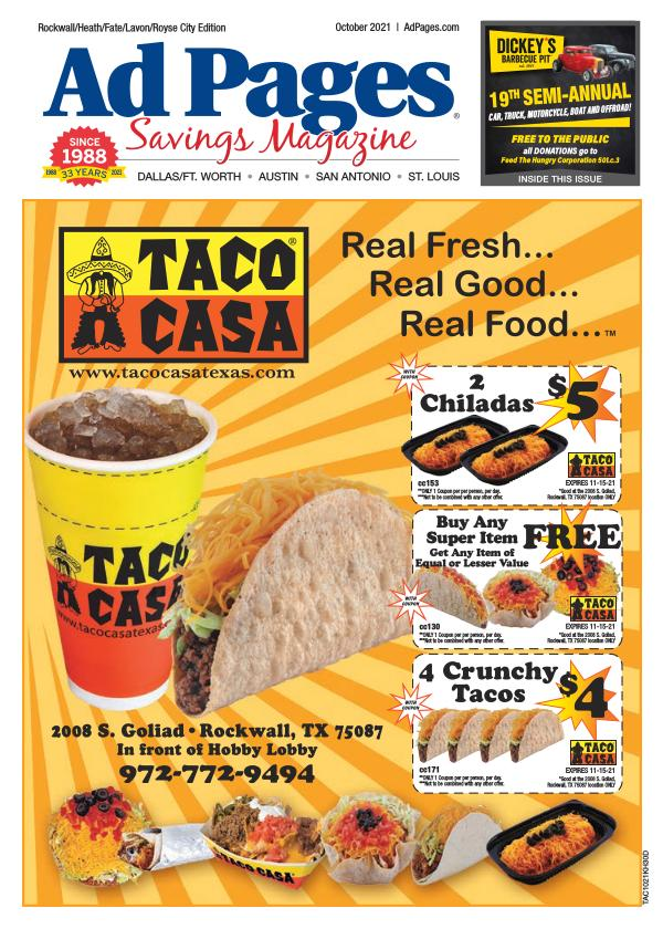 Rockwall, TX Ad Pages Coupon Magazine