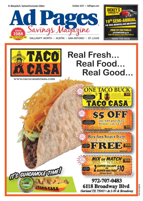 N. Mesquite, TX Ad Pages Coupon Magazine
