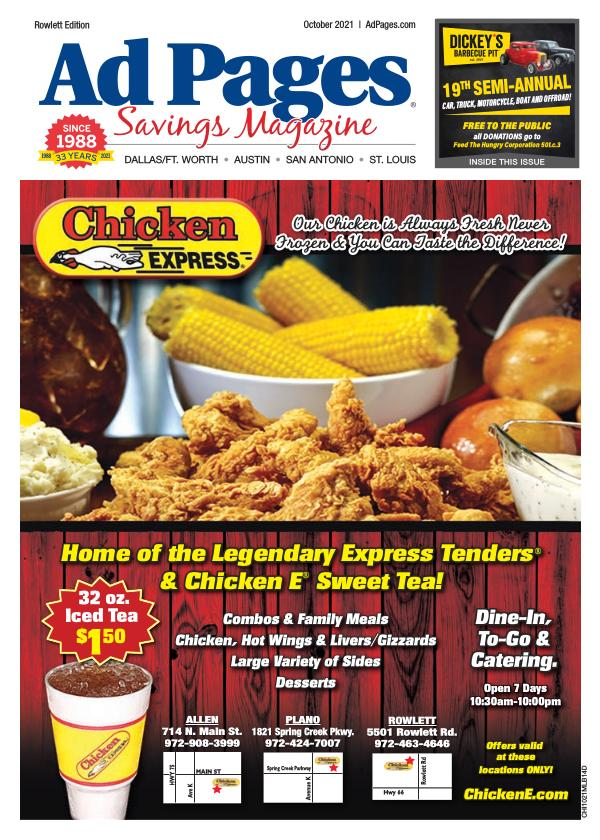 Rowlett, TX Ad Pages Coupon Magazine