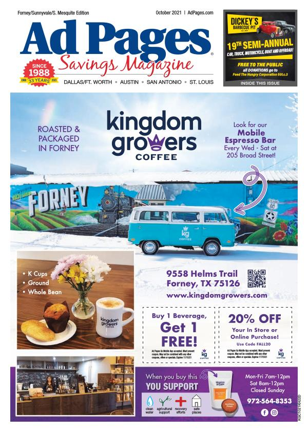 Forney, TX Ad Pages Coupon Magazine
