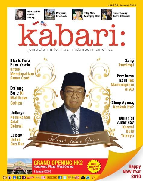 Majalah Digital Kabari Vol: 35 Januari - Februari 2010