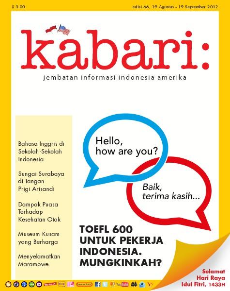 Majalah Digital Kabari Vol: 66 Agustus - September 2012