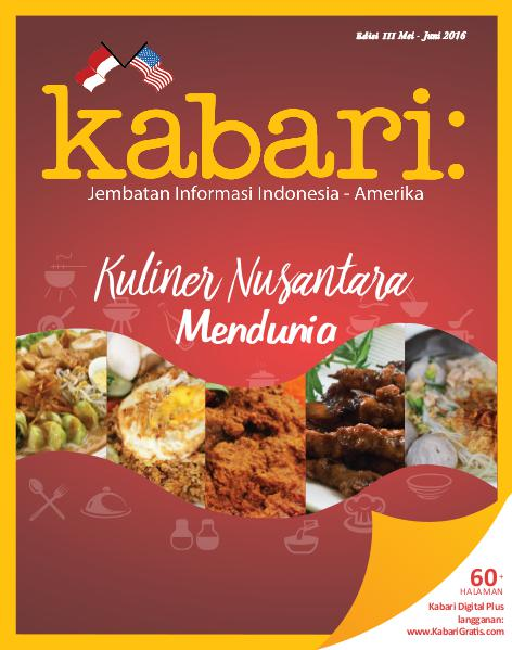 Majalah Kabari Vol 111 Mei - Juni 2016