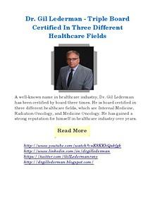 Triple board certified in three different healthcare fields