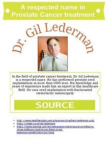 A respected name in Prostate Cancer treatment - Dr. Gil Lederman
