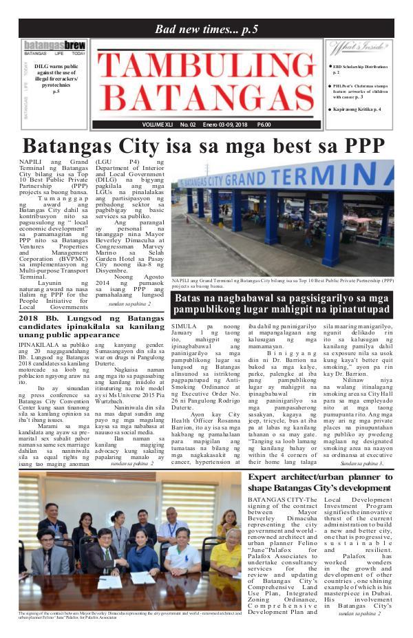 Tambuling Batangas Publication January 03-09, 2018