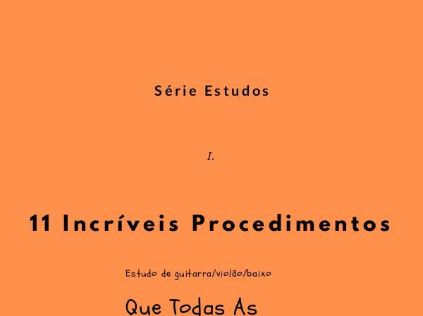 11 Incríveis Procedimentos 11 Incríveis Procedimentos livro 01