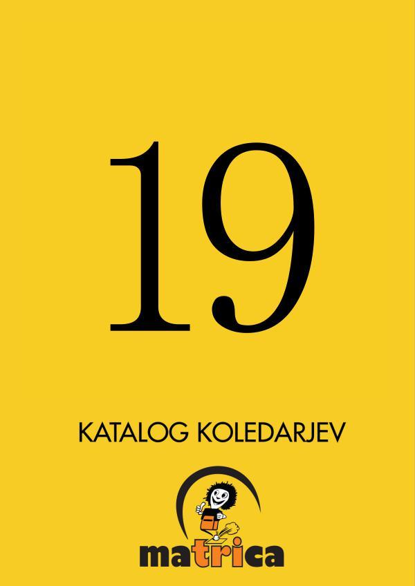 Katalog koledarjev Ma3ca 2019