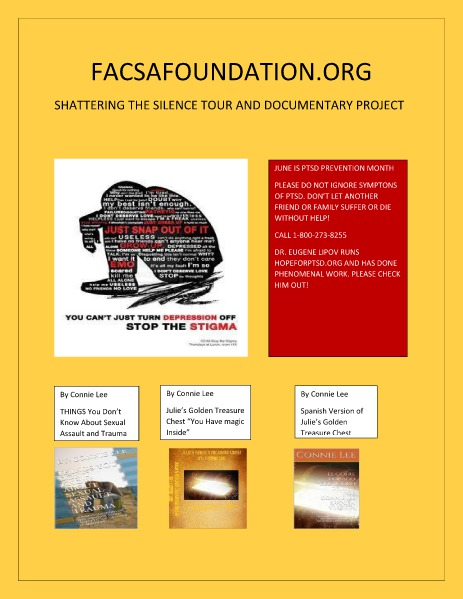 FACSAFOUNDATION.ORG SHATTERING THE SILENCE TOUR DOCUMENTARY PROJECT Volume 7