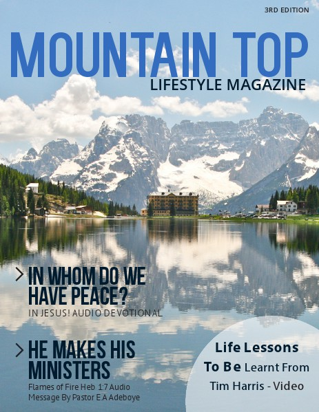 MOUNTAIN TOP LIFESTYLE MAGAZINE 3RD EDITION