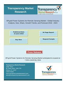 Off-grid Power Systems for Remote Sensing Market anticipated to expan
