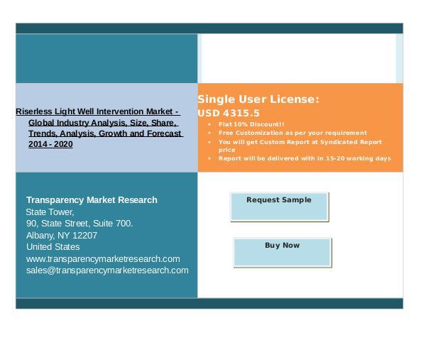 Research Report Riserless Light Well Intervention Market - 2020 Dec 2016