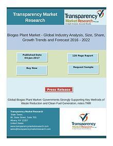 Biogas Plant Market Global Industry Analysis 2016 - 2022