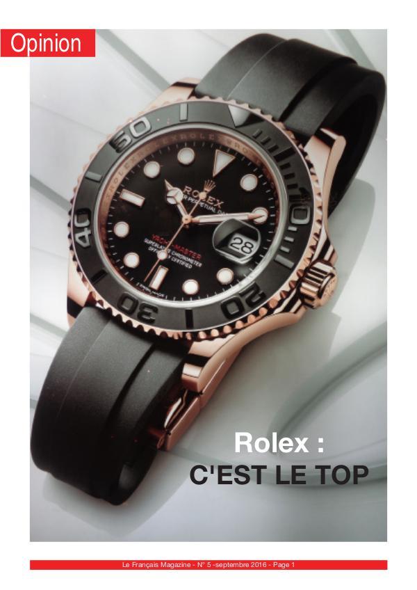 Retour sur un article - Rolex, c'est le top