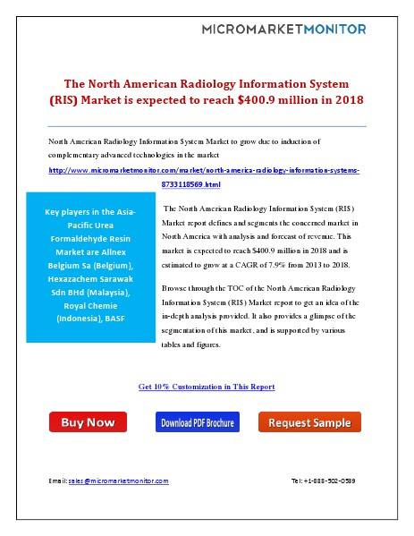 The North American Radiology Information System (RIS) Market is expec January 15, 2015
