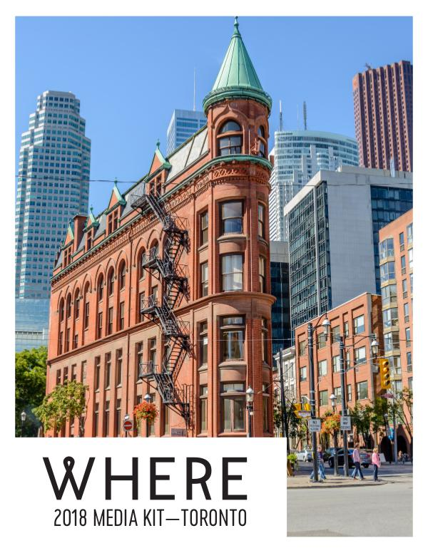 Where Canada Media Kits WHERE Toronto Media Kit 2018