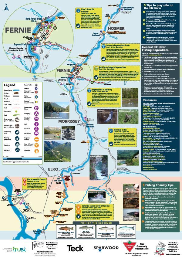 Elk River Recreation Map & Guide