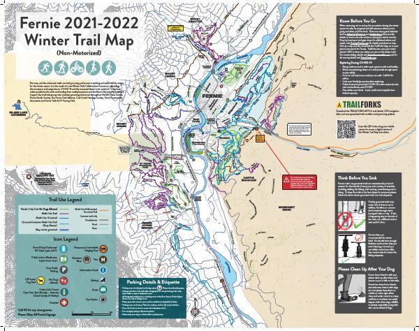 Fernie Winter Trail Map 2020-2021 January 2021
