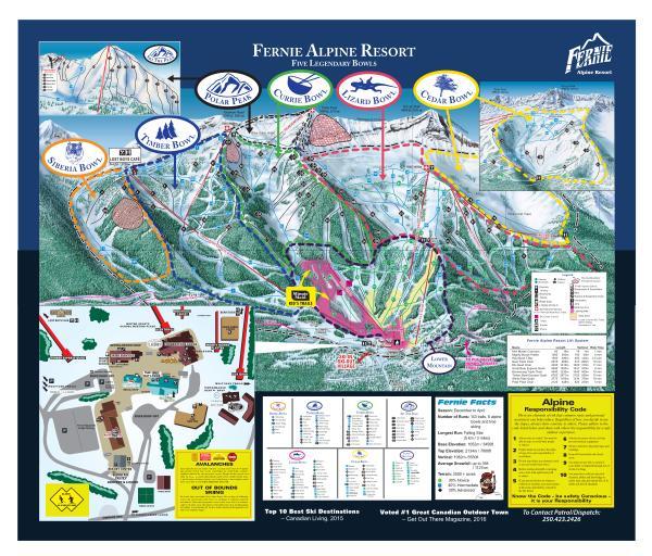 Ski Trail Map - Fernie Alpine Resort