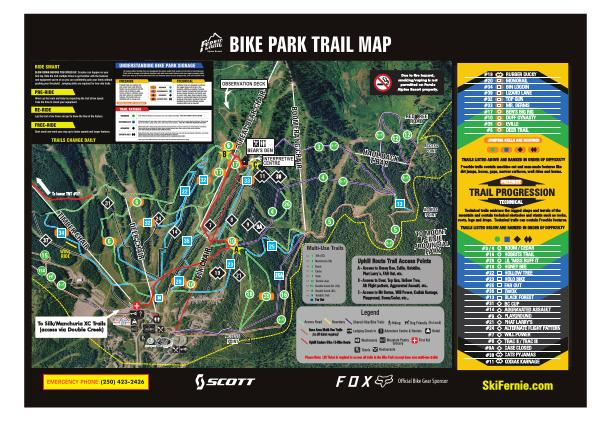 Fernie Bike Park Trail Map 2020