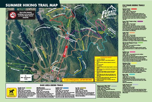 Fernie Alpine Resort Hiking Trail Map 2019