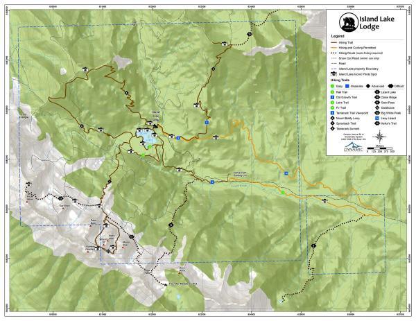 Island Lake Lodge Hiking Trail Map 2018