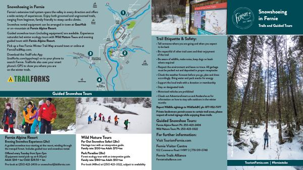 Snowshoeing in Fernie Trails and Guided Tours