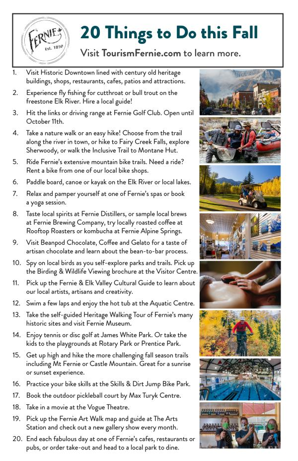 20 Things To Do in Fernie Fall