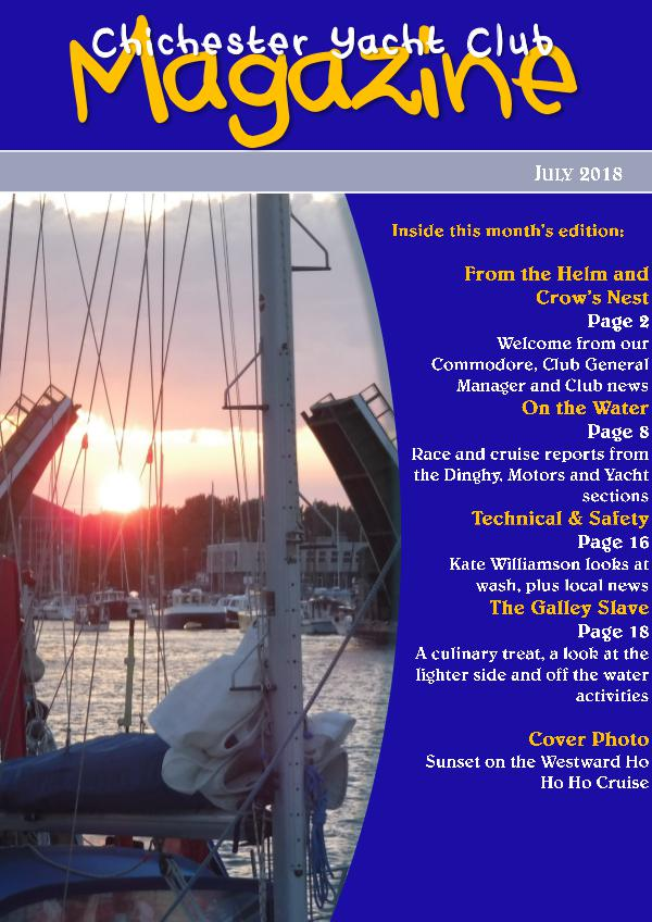 Chichester Yacht Club Magazine July 2018