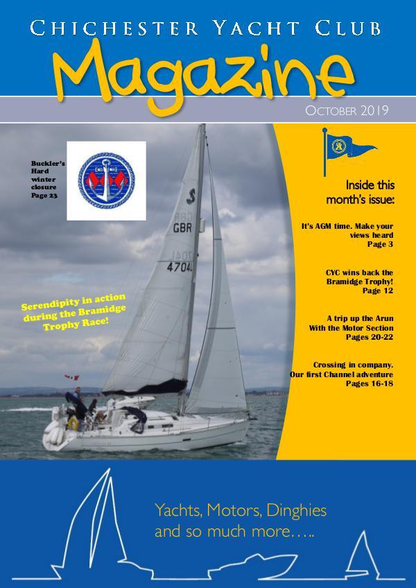 Chichester Yacht Club Magazine October 2019