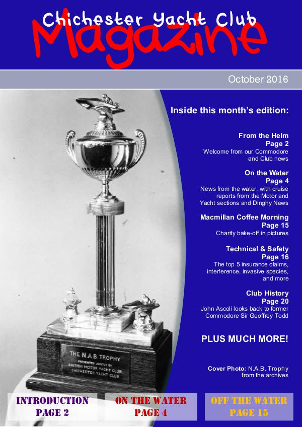 Chichester Yacht Club Magazine October 2016