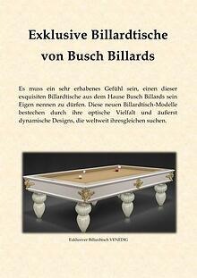 Exklusive Billardtische von Busch Billards
