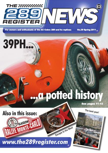 The 289 Register News No 39 Spring 2011