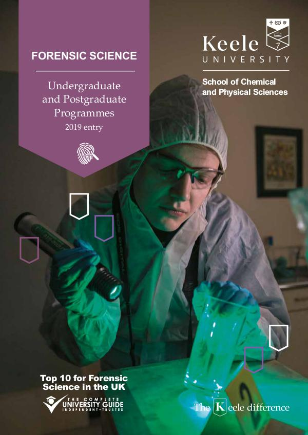 School of Chemical and Physical Sciences brochures Forensic Science brochure 2019