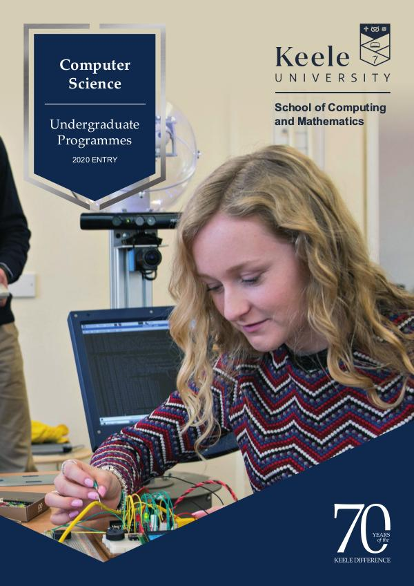 Computer Science Undergraduate Programmes 2020 Entry 2020 Entry
