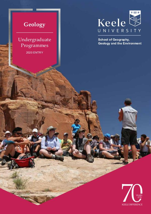 Geology Undergraduate Programmes for 2020 Entry 2020 Entry