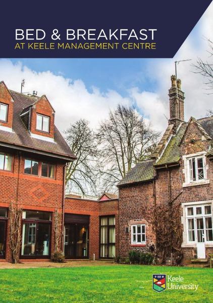 Keele Management Centre B and B Leaflet