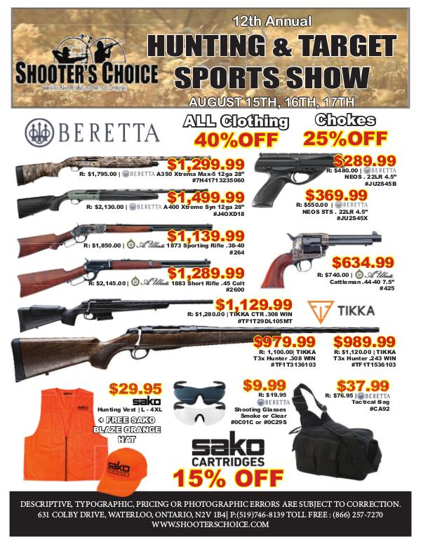 Shooter's Choice Hunting and Target Sports Show 12th Annual Hunting & target sports show