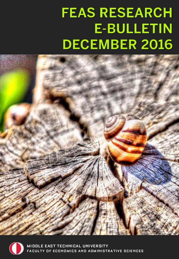 FEAS RESEARCH E-BULLETIN FEAS E-BULLETIN DECEMBER 2016