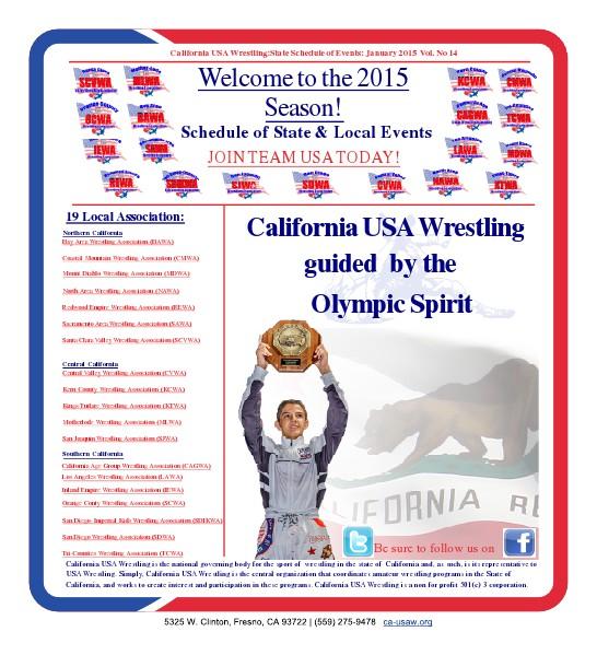 2015 California USA Wrestling Newsletter Jan 2015