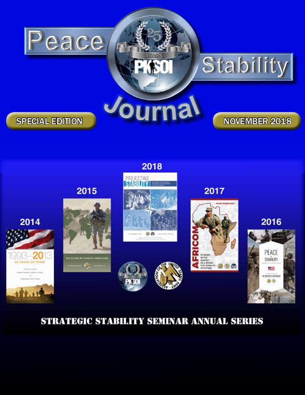 Peace & Stability Journal Special 25th Anniversary Edition