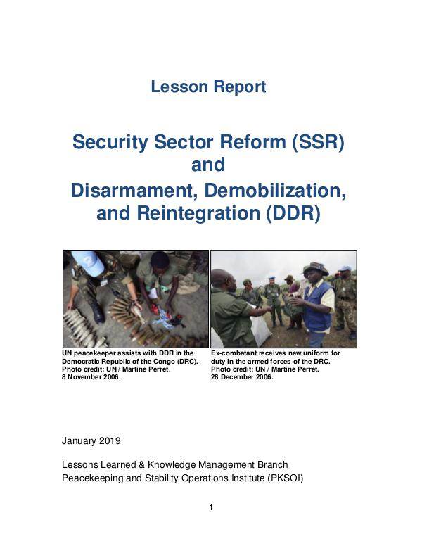 PKSOI Lessons Learned Report January 2019