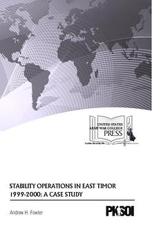Stability Operations in East Timor 1999-2000: A Case Study