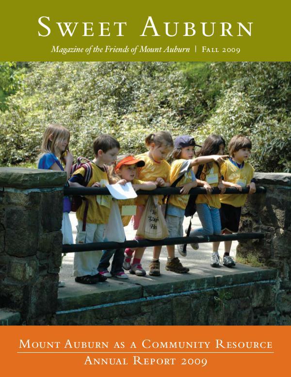 Mount Auburn as a Community Resource