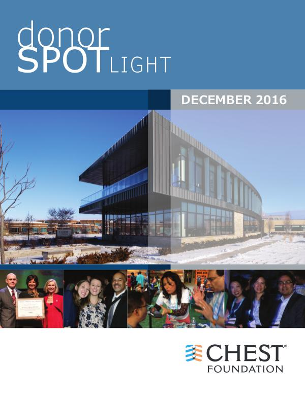 CHEST Foundation Donor Spotlight December 2016