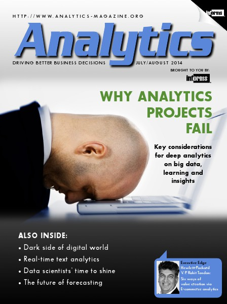 Analytics Magazine Analytics Magazine, July/August 2014