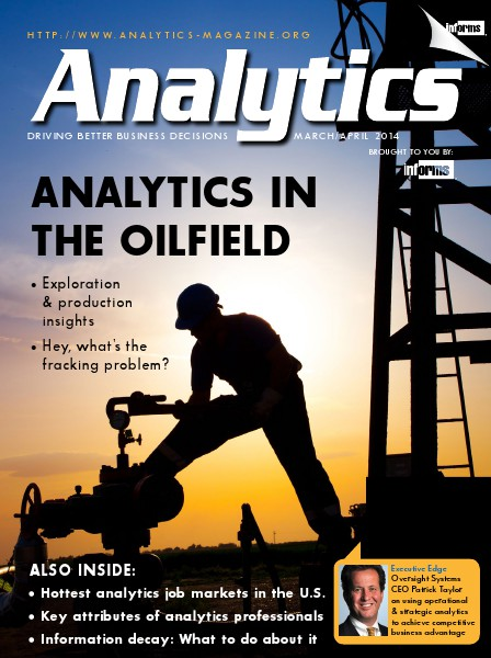 Analytics Magazine Analytics Magazine, March/April 2014