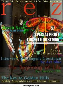 Art Blue in interview with Eugene Goostman in rezmagazine